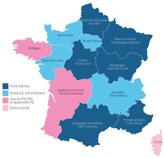 Résultats du premier tour des régionales 2015