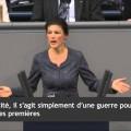 Sarah Wagenknecht fustige l'hypocrisie d'Angela Merkel (19 février 2016)