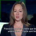 Sur France 2, des images des frappes aériennes russes pour vanter les succès américains en Syrie (11 février 2016)