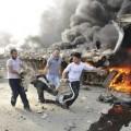 Double attentat, en mai 2012 à Damas, revendiqué par le groupe terroriste al-Nosra qui a fait plus de 60 morts et près de 400 blessés.