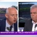 Loi El Khomri : Christophe Caresche (PS), «à poil» devant André Chassaigne (PC), quitte le plateau de LCP (22 juin 2016)