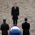 Emmanuel Macron lors de l'hommage au lieutenant-Colonel Arnaud Beltrame